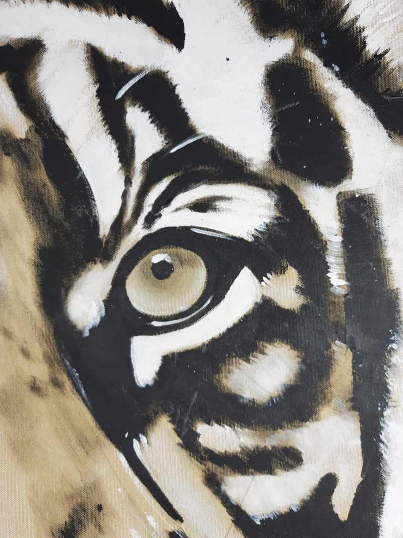Detail Gemälde Tiger