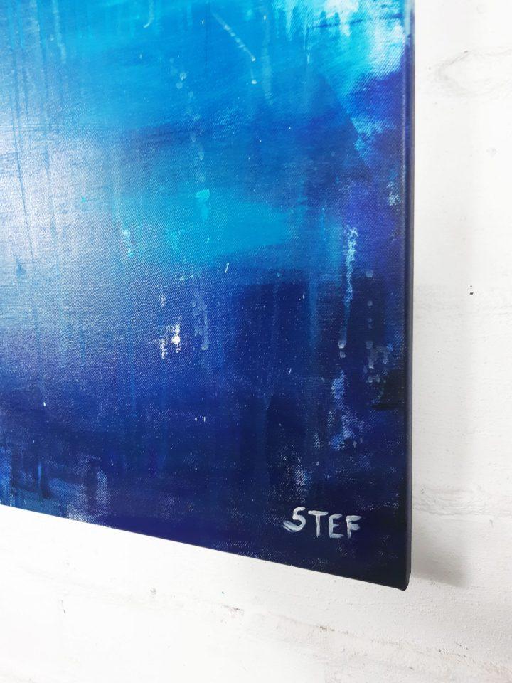 abstrakte Malerei Signatur