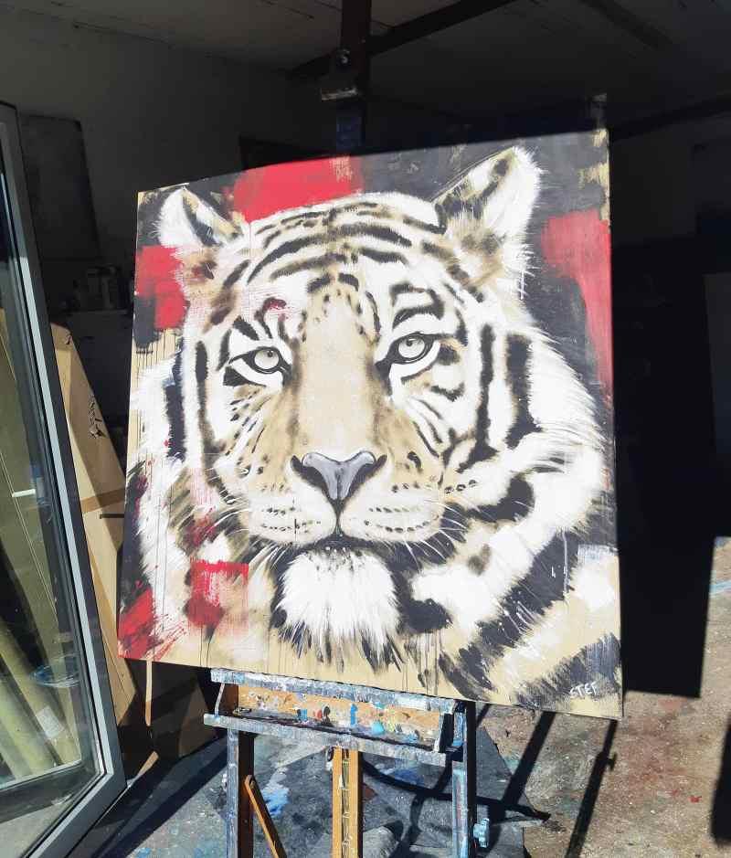Gemälde Tiger