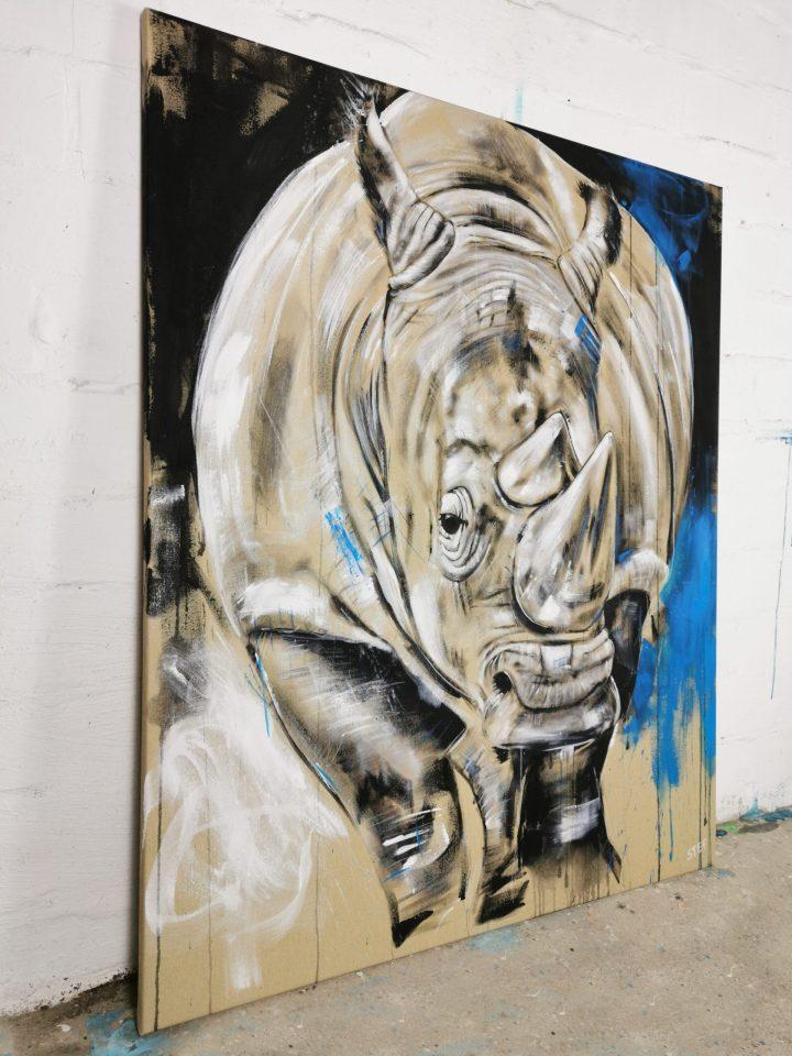 Gemälde Nashorn
