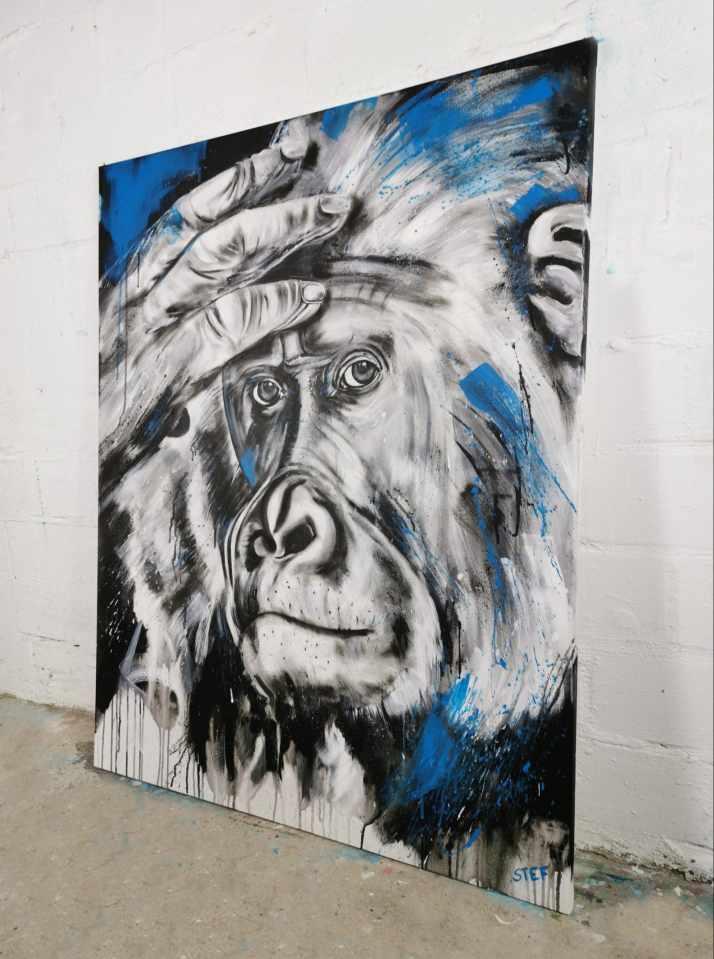 Gorilla Original Gemälde