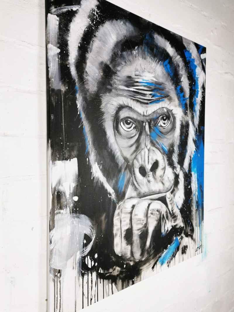 Original Gemälde Gorilla