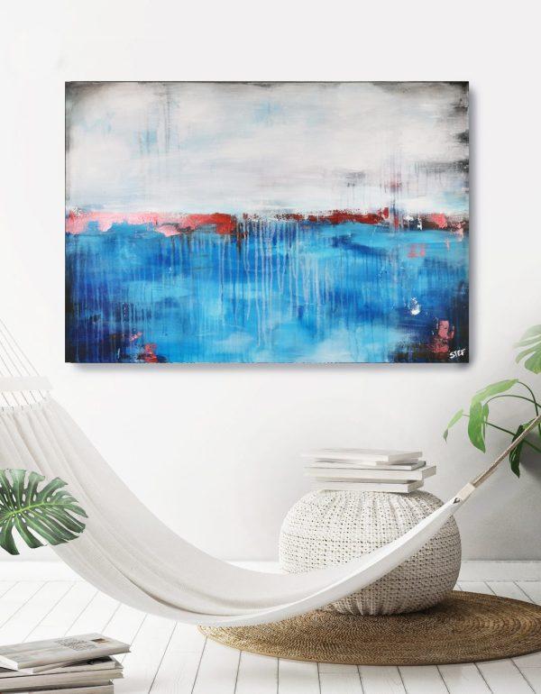 Abstrakte Gemälde Blau