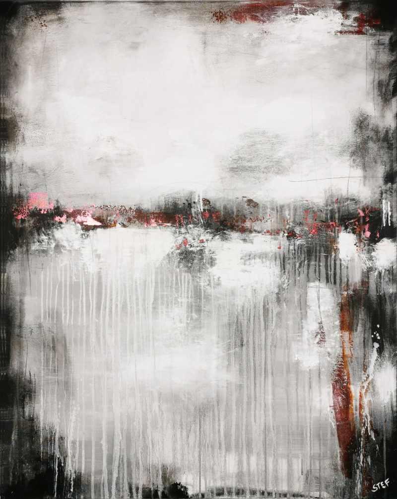 Abstraktes Gemälde Grau