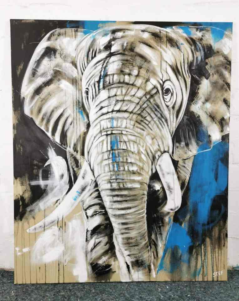 Elefant original modernes Gemälde