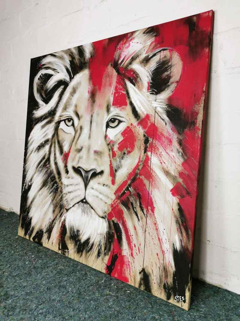 Gemälde Löwenkopf 13 von Stefanie Rogge