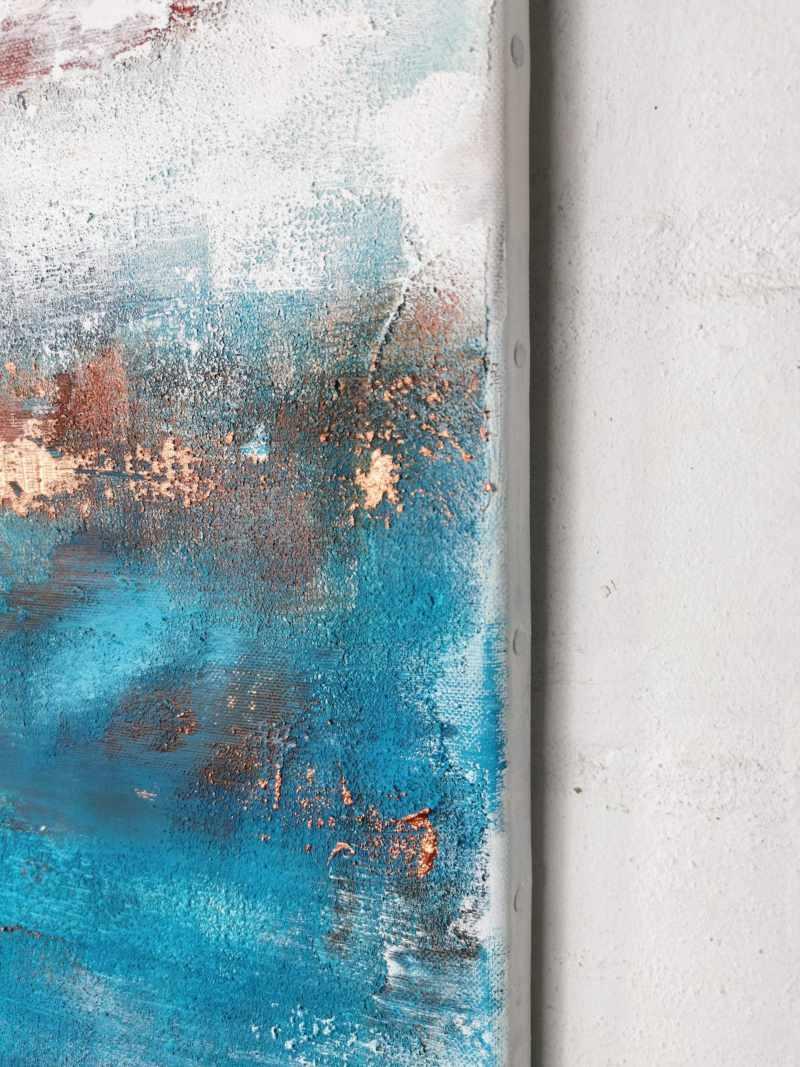 Leinwandbild abstrakt Blau