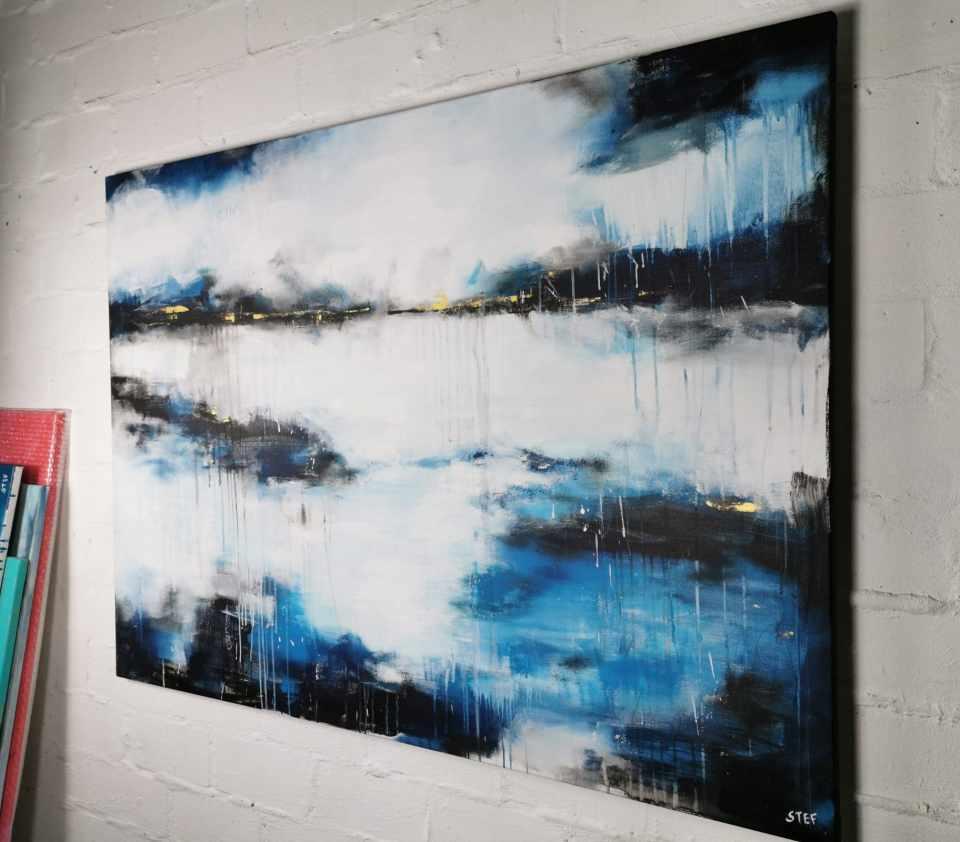 Große abstrakte Kunst maritim