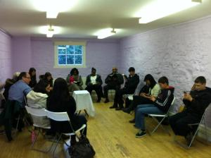 I Love the Lord's Table Meeting in Oneness in the Body! In the picture: Lord's Table Meeting, a smaller gathering