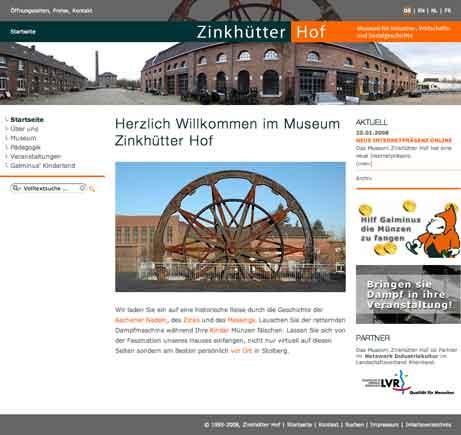 Webseite: Museum Zinkhütter Hof