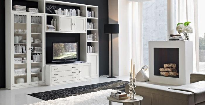 Composizione soggiorno per arredi in stile moderno contemporaneo in legno di frassino, produciamo e rivendiamo direttamente a prezzo di fabbrica mobili in stile classico. Arredare In Stile Contemporaneo