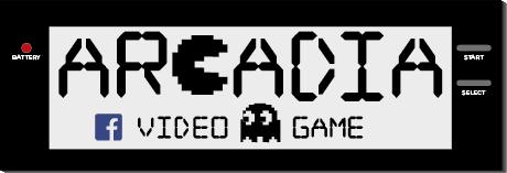 """Logo designed for """"Arcadia"""" videogames shop"""