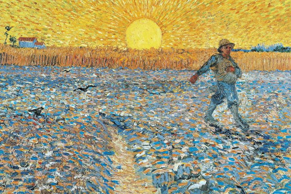 Van Gogh Seminatore al tramonto
