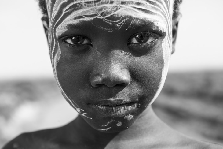 Boy of the Karo Tribe. Lower Omo Valley, Ethiopia.