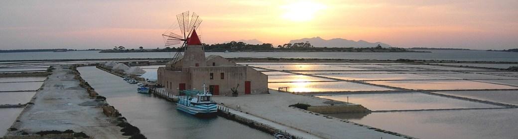 Marsala - tramonto sulle saline