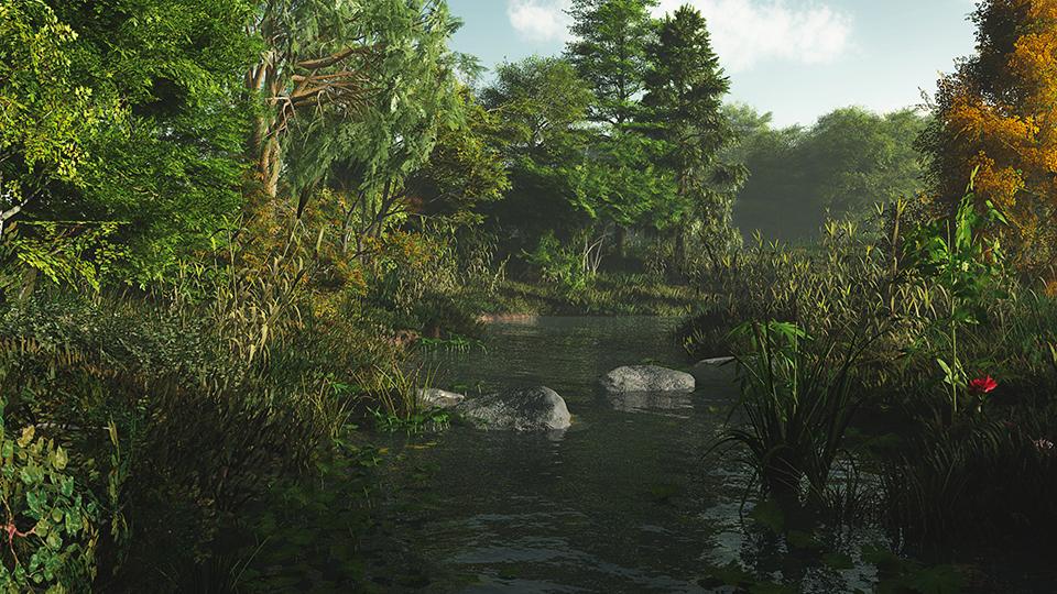 Un torrente nel bosco - 3D