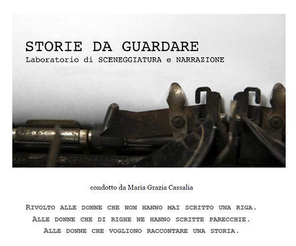 Brochure di presentazione del corso di sceneggiatura di MG Cassalia