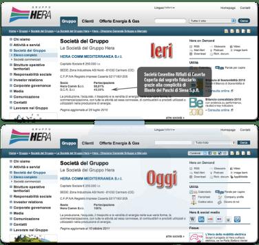 La Società Cosentino Rifiuti, socia di HERA fino ad ottobre 2011