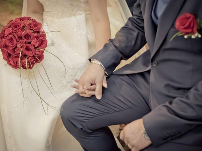 dettaglio bouquet rose rosse