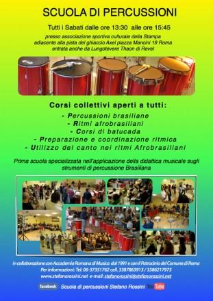 Scuola di percussioni Stefano Rossini Roma 2014:2015