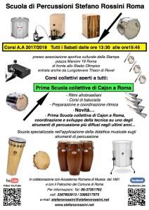 Scuola di percussioni Stefano Rossini Roma 2016:2017 con scritta scuola bianca e CON anno 1991