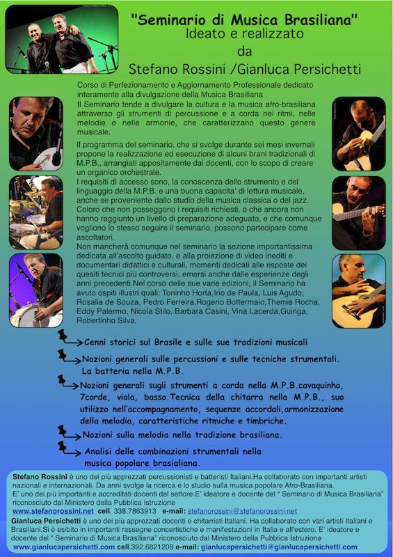 Seminario di Musica Brasiliana... Stefano Rossini scuola di percussioni Roma