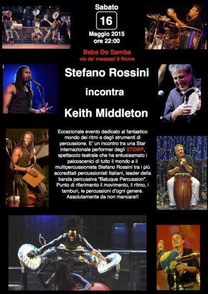 Stefano Rossini incontra Keith Middleton