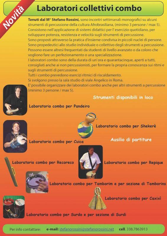Laboratori collettivi combo...  Stefano Rossini scuola di percussioni Roma