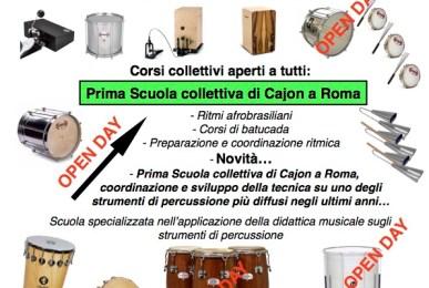 Scuola di percussioni Stefano Rossini Roma 2017:2018 Presentazione Open Day