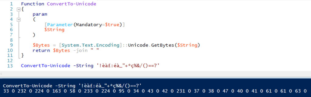 PowerShell – Convert Special Character String Into Numbers