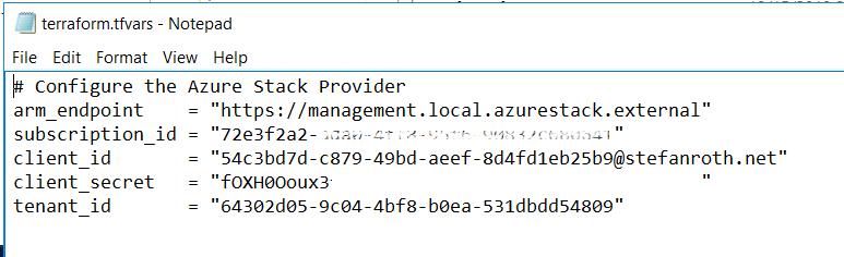 Azure Stack – Azure Stack Development Kit Meets Terraform