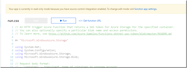 Azure Stack – Use Function To Generate SAS Token For Blob