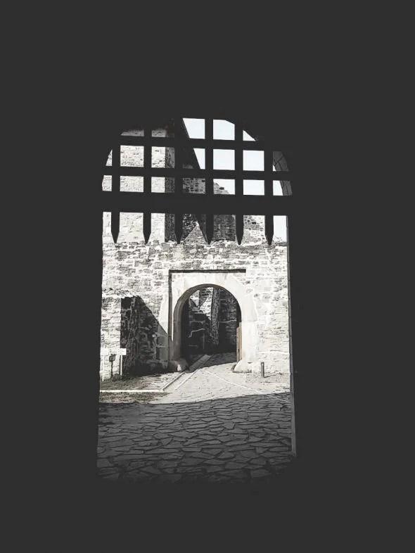 Intrare în Cetatea de Scaun a Sucevei
