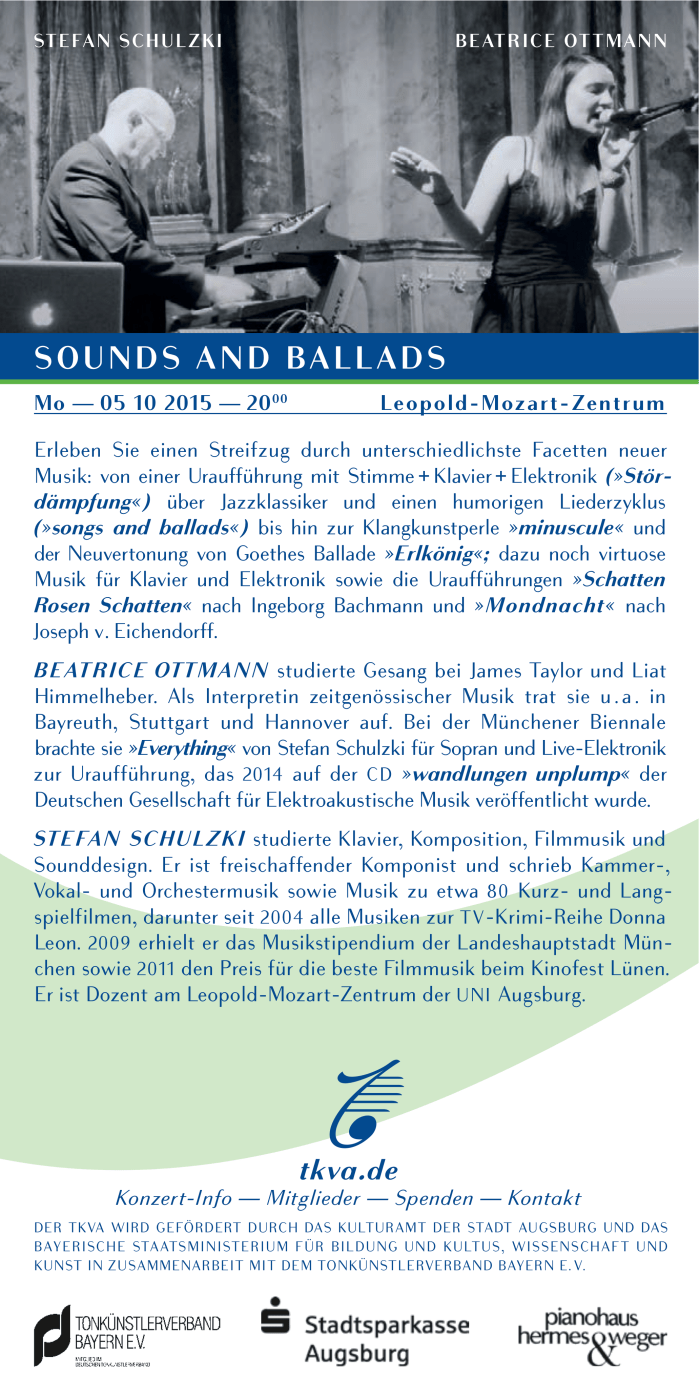 Sounds and Ballads Flyer 2