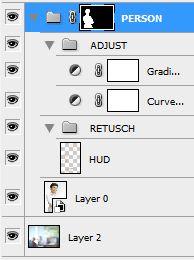 Photoshop - se till att ha justeringar i olika grupper och lager