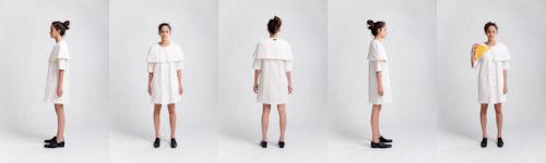 Fotografering kläder på modell ur olika vinklar. Produktfotografering för svenskt klädmärke i fotostudio