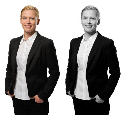 Porträttfotografering med beauty dish - jämförelse mellan svartvitt och färg