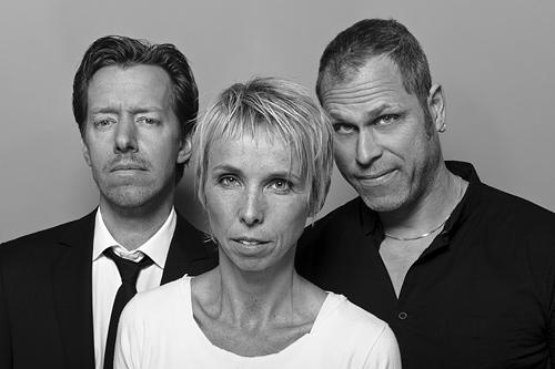 Komikerna från Lobbyn, Erik Löfmarck, Agneta Wallin & Lasse Nilsen. Fotograf Stefan Tell