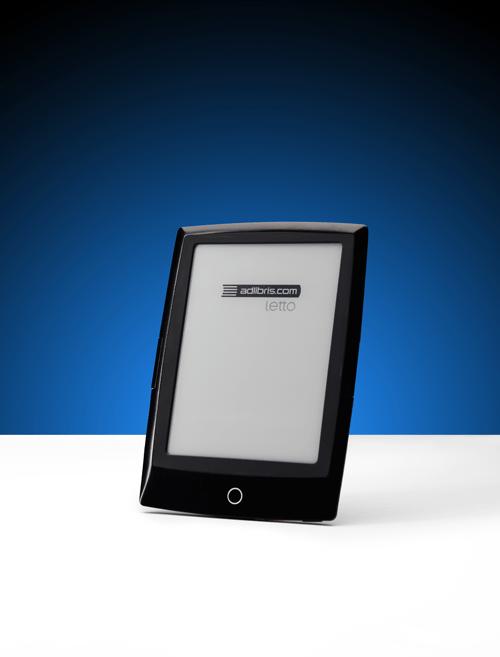 Produkfoto av läsplattan Letto för Adlibris, e-böcker. Fotograf Stefan Tell