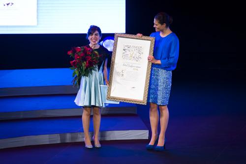 Isol-Kronprinsessan-Victoria-diplom-pris-ALMA. Fotograf Stefan Tell