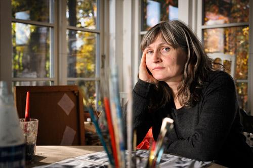 Anna Höglund, författarporträtt för bokförlaget Bonnier Carlsen, 2013. Fotograf Stefan Tell