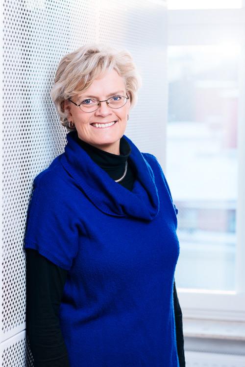 Carola Lemne, porträtt av VD på Praktikertjänst (snart ny VD i Svenskt Näringsliv). Pressbild 2014. Fotograf Stefan Tell
