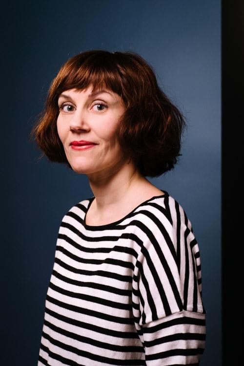 Ingrid Flygare, porträtt och pressbilder av illustratör för Bonnier Carlsen. Fotograf Stefan Tell