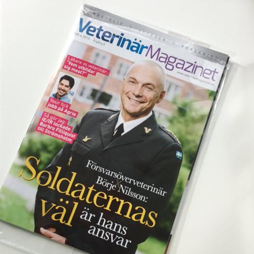 tidningsomslag-VeterinärMagazinet-foto-militär-veterinär