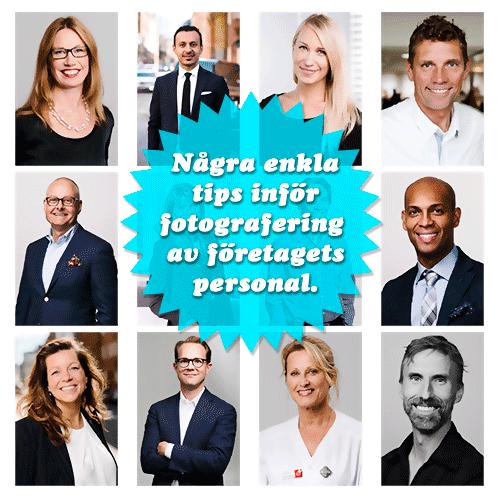 Samlade tips, råd och erfarenheter för en lyckad och smidig personalfotografering. Fotograf Stefan Tell i Stockholm