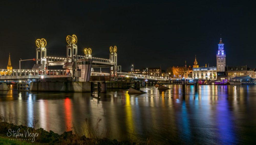 Stadsbrug in Kampen, Netherlands