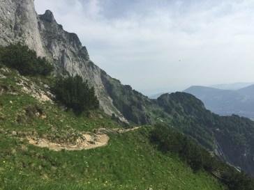 Weg hinunter zur Toni-Lenz-Hütte