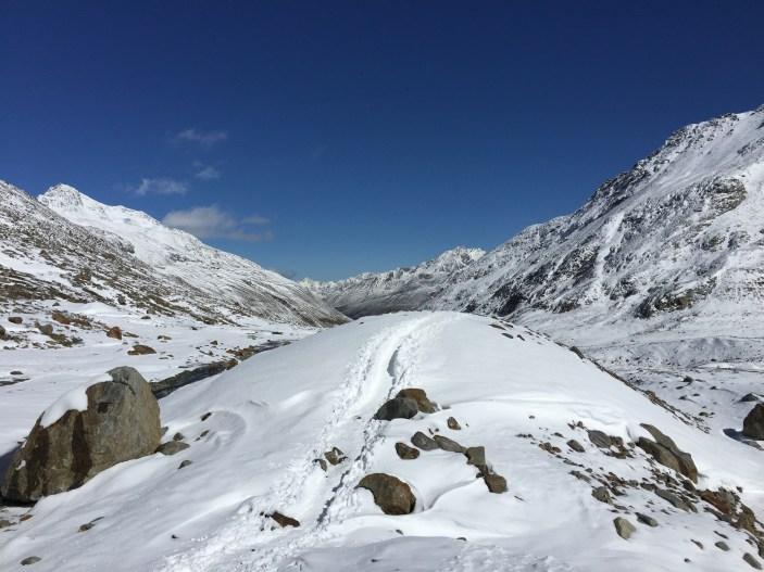 Tolle Ausblicke hinauf zur Similaunhütte.