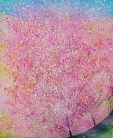 Spanish Landscape Almond Blossom