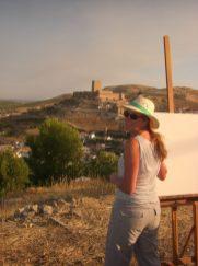 Painting 'en plein air' - Pintura Rapida, Alclaudete